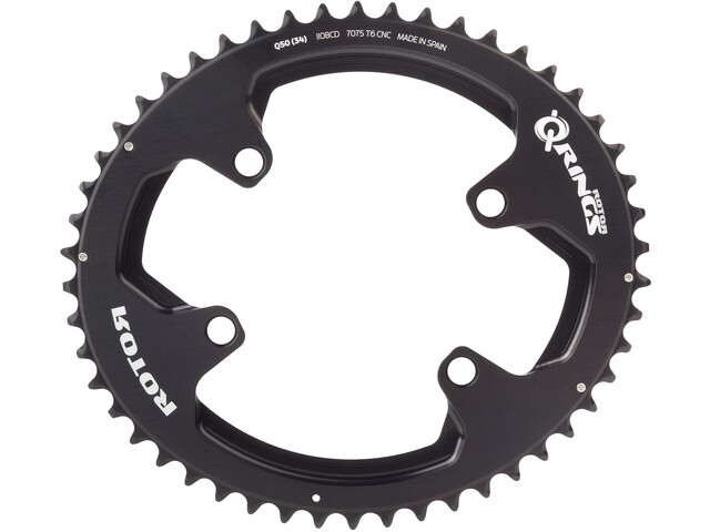 Rotor Aldhu Chain Ring 110x4 outside oval black matte/black glossy